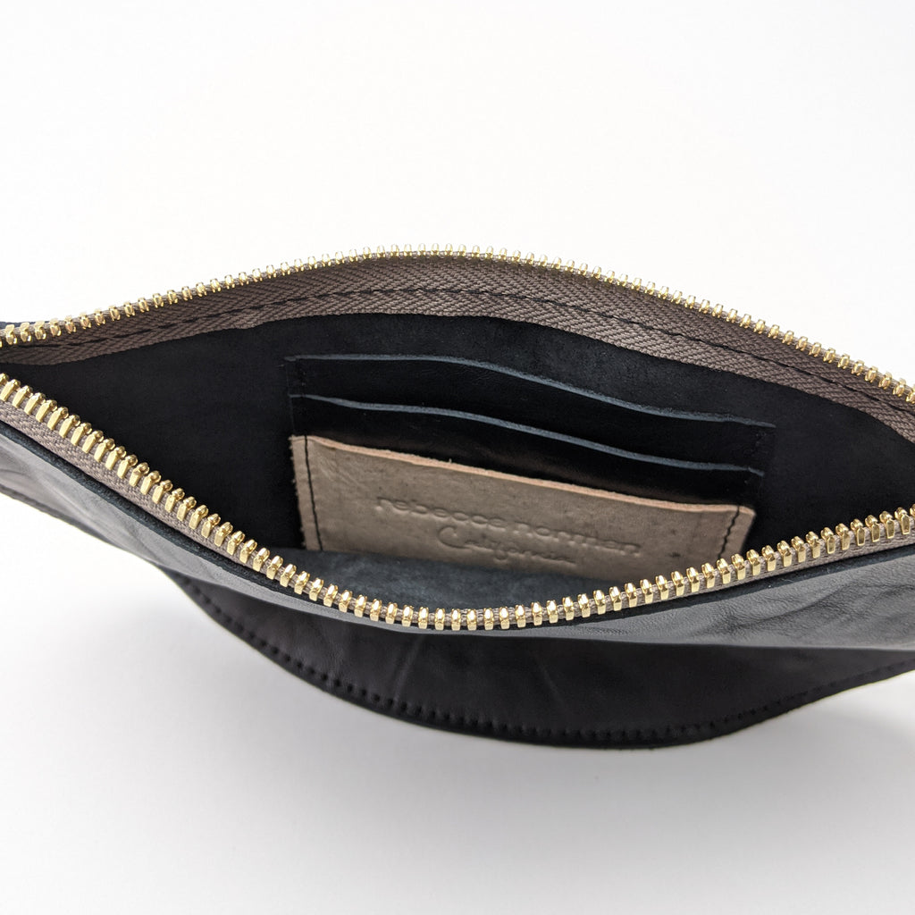 Luna Bangle Bag in Embossed Stingray - Charcoal