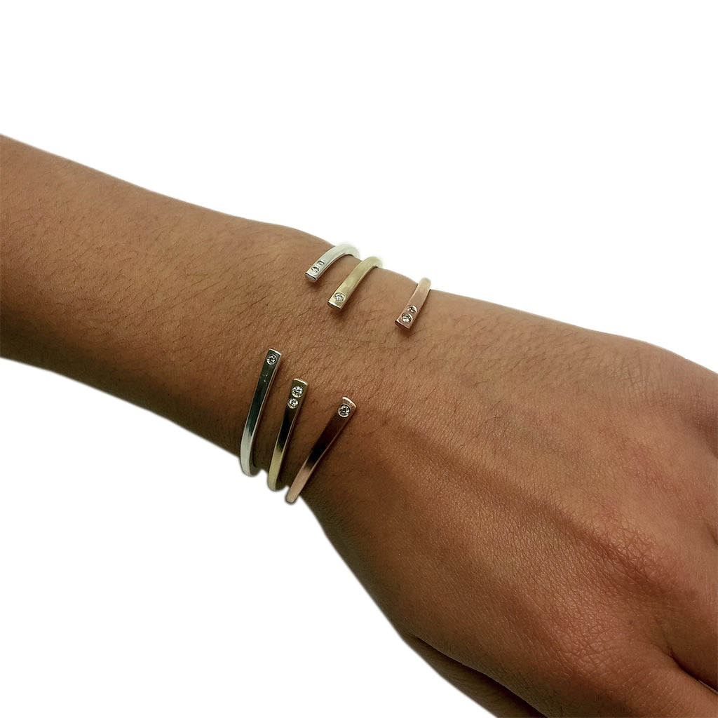 10k Gold + Diamond Regalo Cuffs