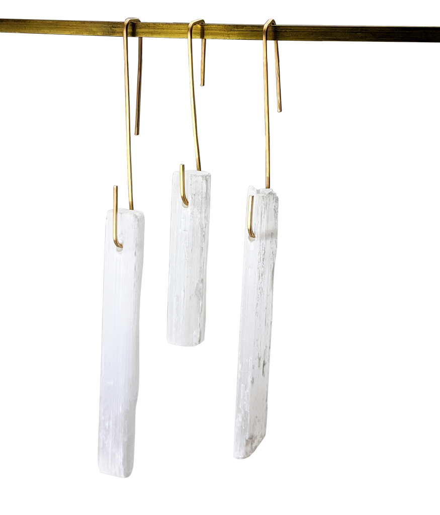Ornaments - Set of 3 Selenite Drops