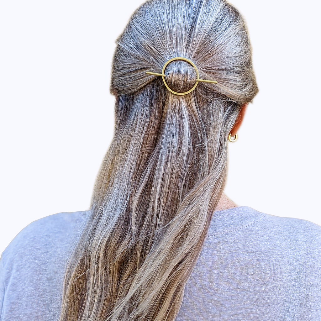 Abstract Oval Hair Slides