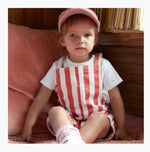 Animal Crackers League Overalls - Stripe