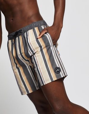 Rusty Blast Elastic Boardshort- Coal