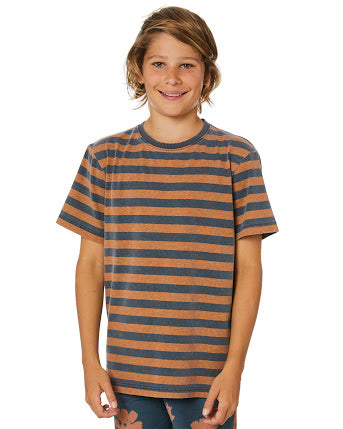 Rusty Different Strokes Short Sleeve Tee Boys - Dark Sapphire