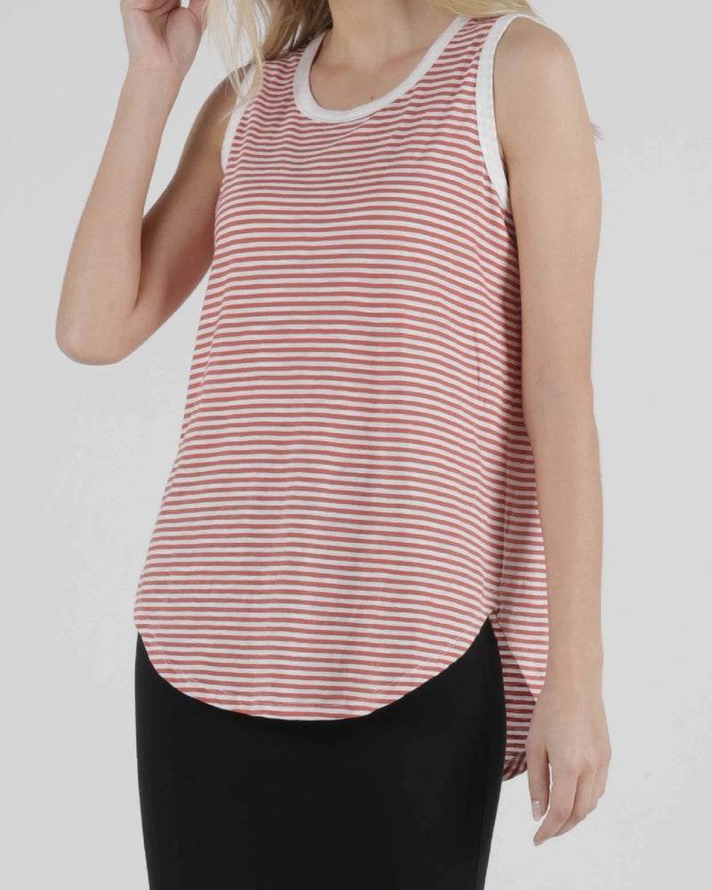 Betty Basic Keira Tank - Tangello Stripe