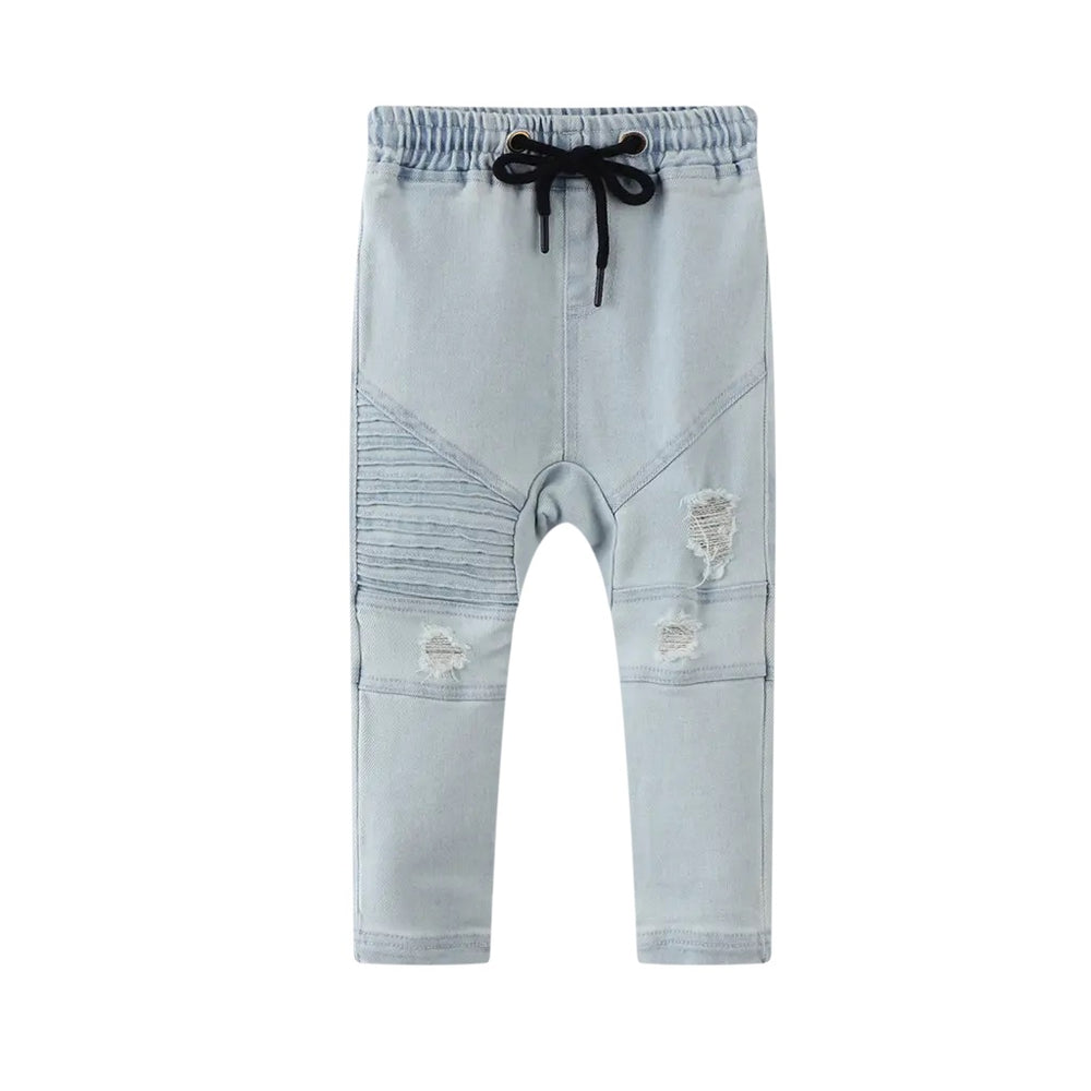 Cracked Soda Dallas Distressed Jeans - Blue