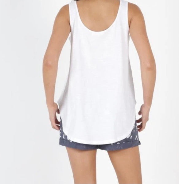 Betty Basic Boston Tank - White