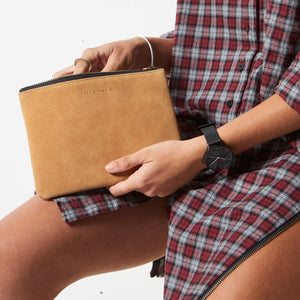 Status Anxiety Momentary Clutch - Tan