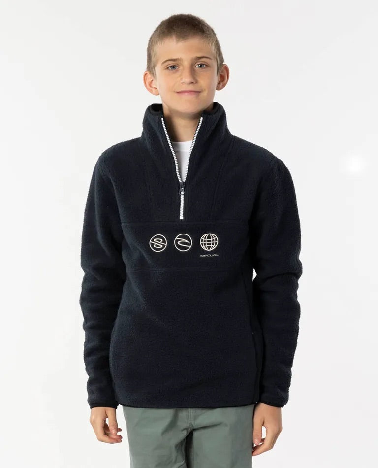 Rip Curl Bells Polar Fleece - Boys Navy