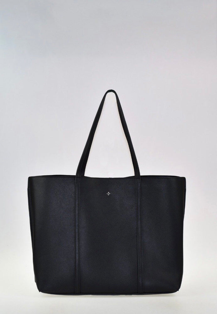 Peta + Jain Hudson Tote Zip Compartment - Black Pebble Silver