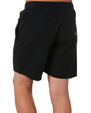 Rusty Hooked On Elastic Short Boys - Black