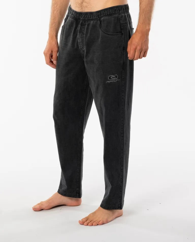 Rip Curl Re-Issue Rugby Pant - Washed Black