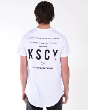 Kiss Chacey Chase The Sun Dual Curved Tee - White