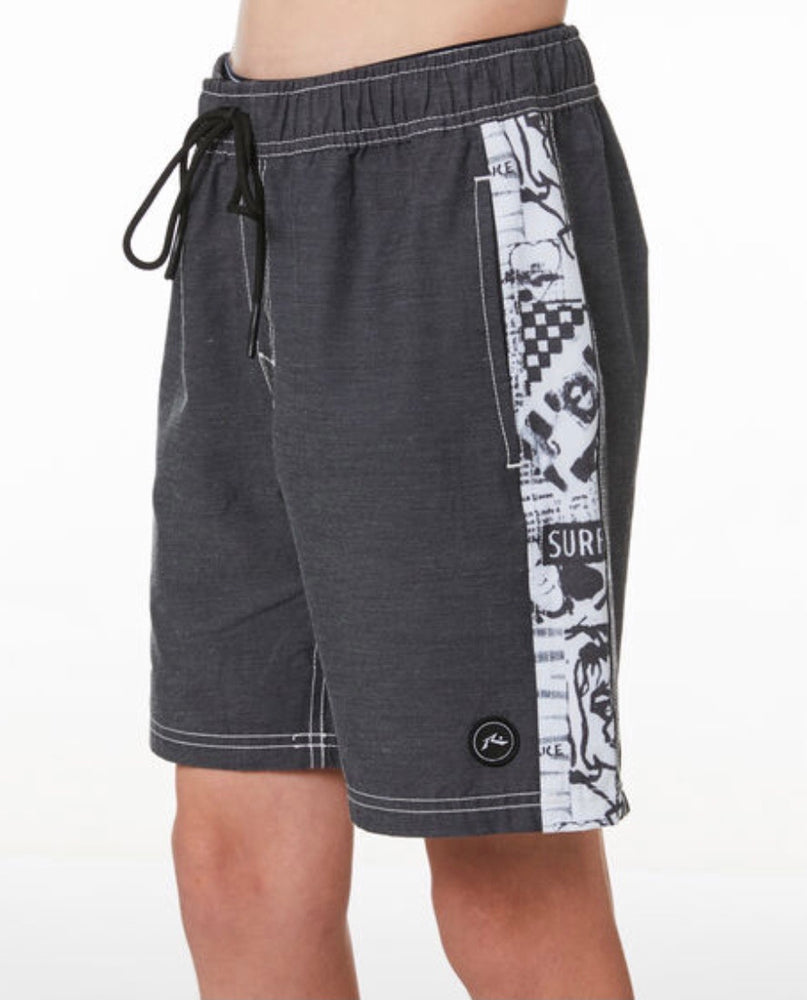 Rusty Flick Knife Elastic Boardshort Boys - Black