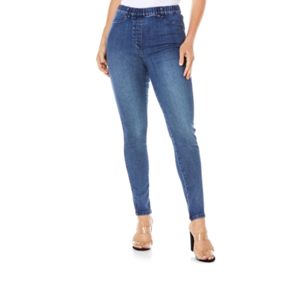 Cafè Lattè Stretched jeggings - Washed Dark Denim