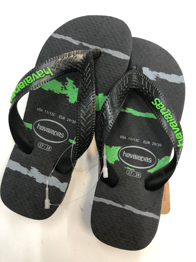 Havaianas Kids - Tropical Glitch Black/ Neon Green