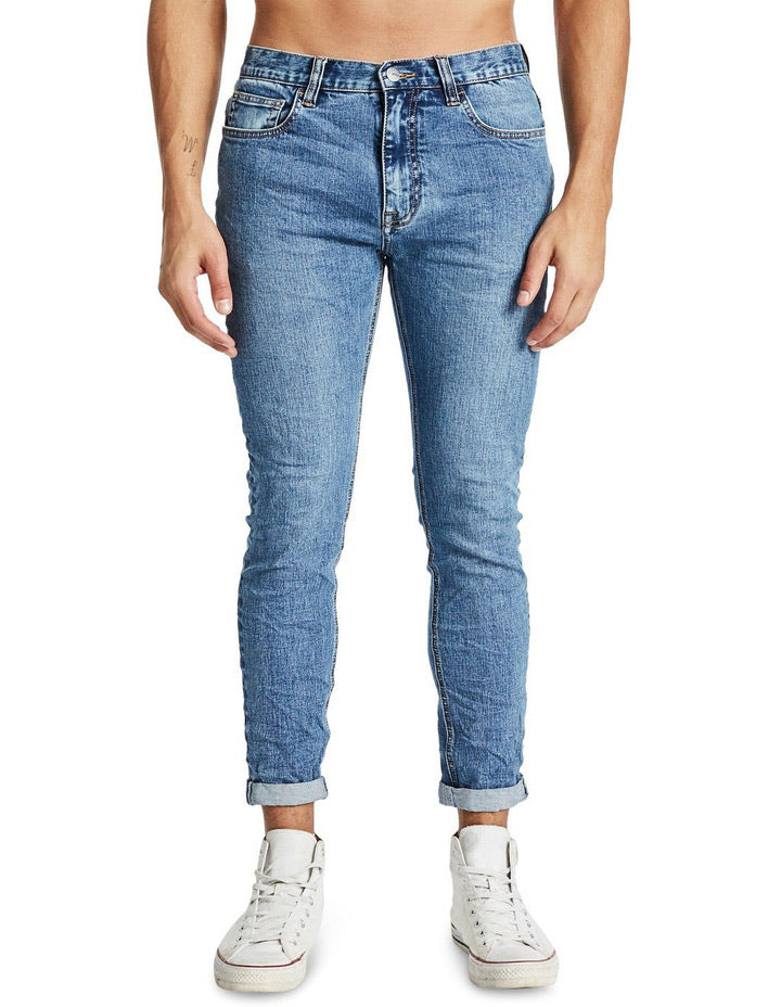 Kiss Chacey K3 Pocket Tapered Turn Up Jean - Dutch Blue