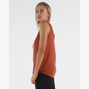 Betty Basic Dallas Reversible Tank - Terracotta