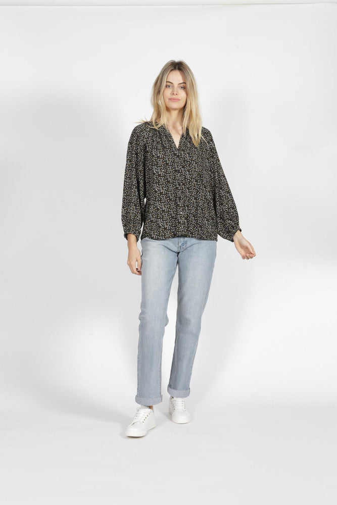 Sass Ada LS Top - Ditsy Floral