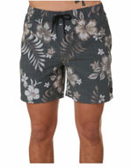 Rusty Backside Elastic Boardshort- Coal