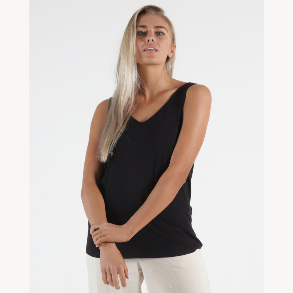 Betty Basic Dallas Reversible Tank - Black