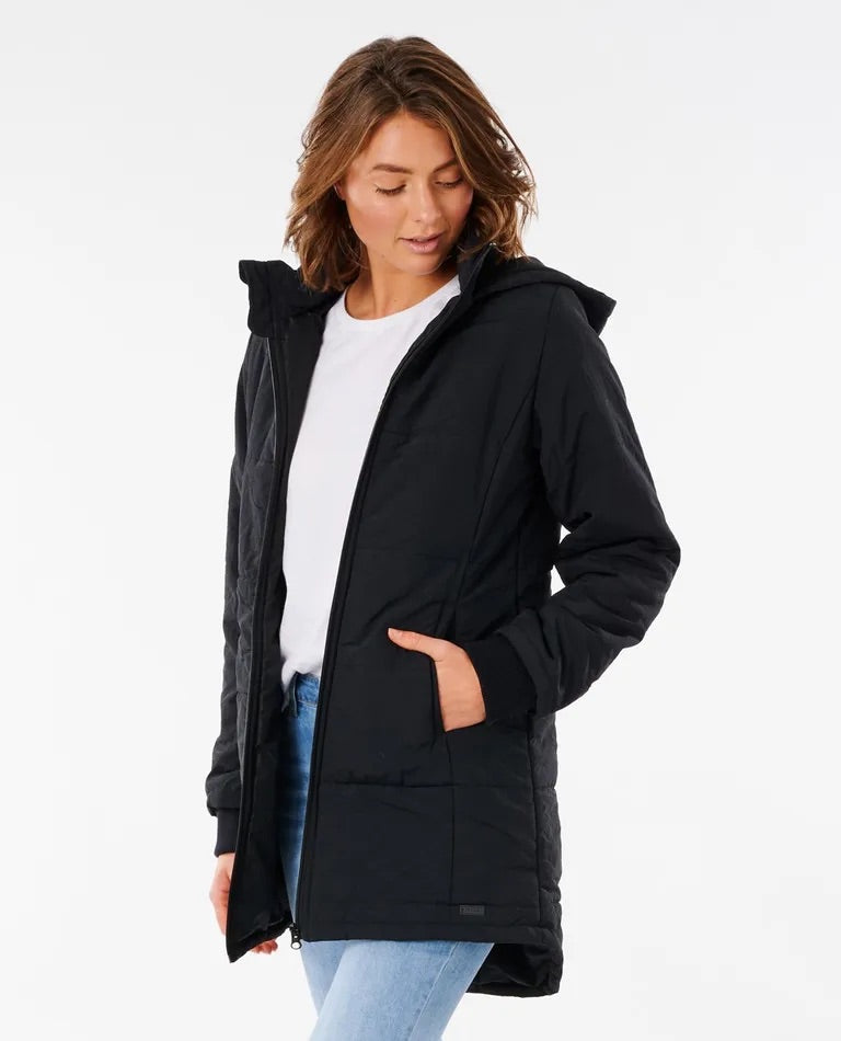 Rip Curl Southern Puffer Jacket - Black