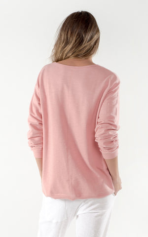 CLÈ Logo Sweater - Rose