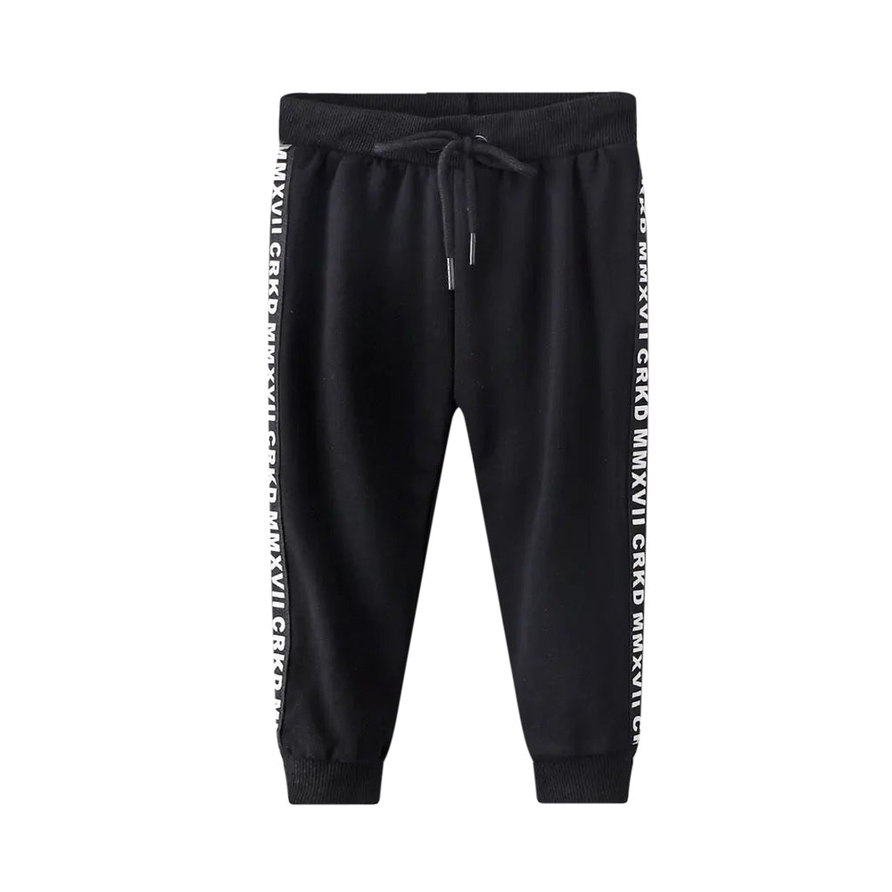 Cracked Soda Ash Casual Trackpant - Black
