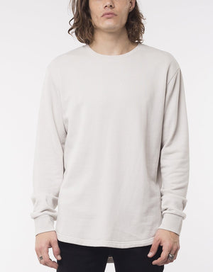 Silent Theory Curved Hem Crew - Light Grey
