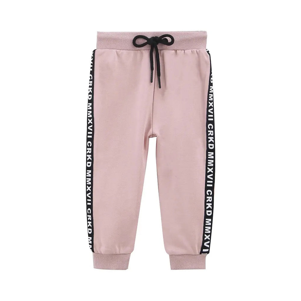 Cracked Soda Ash Casual Trackpant- Pink