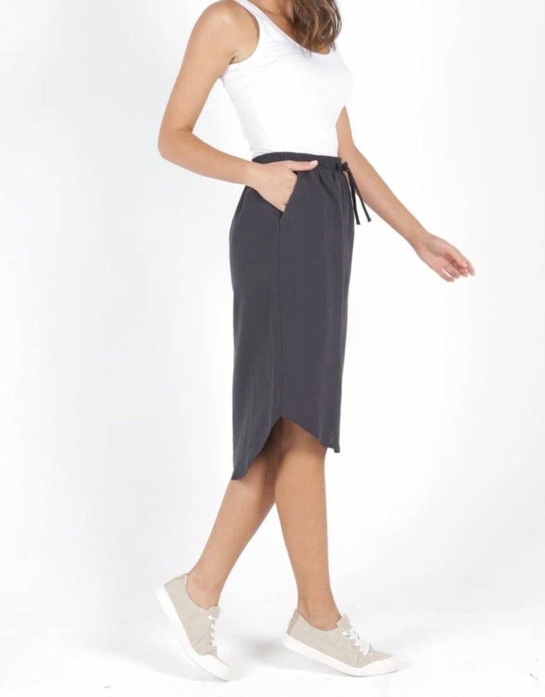 Betty Basic Carson Skirt - Indi Grey