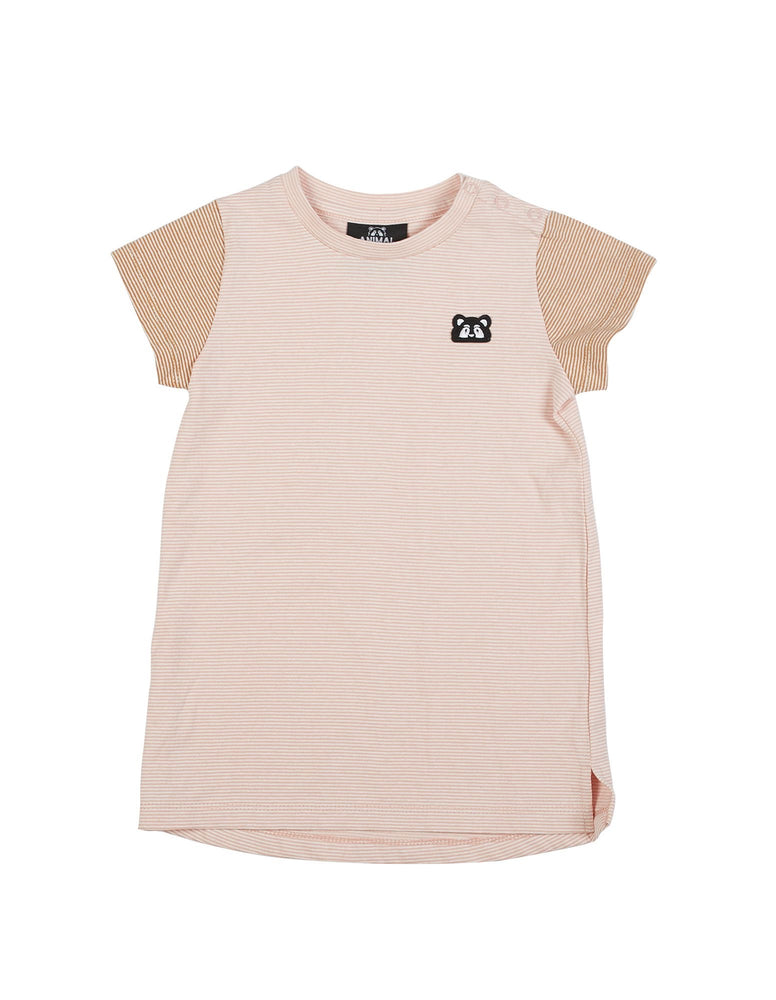 Animal Crackers Dusty Tee Dress - Pink