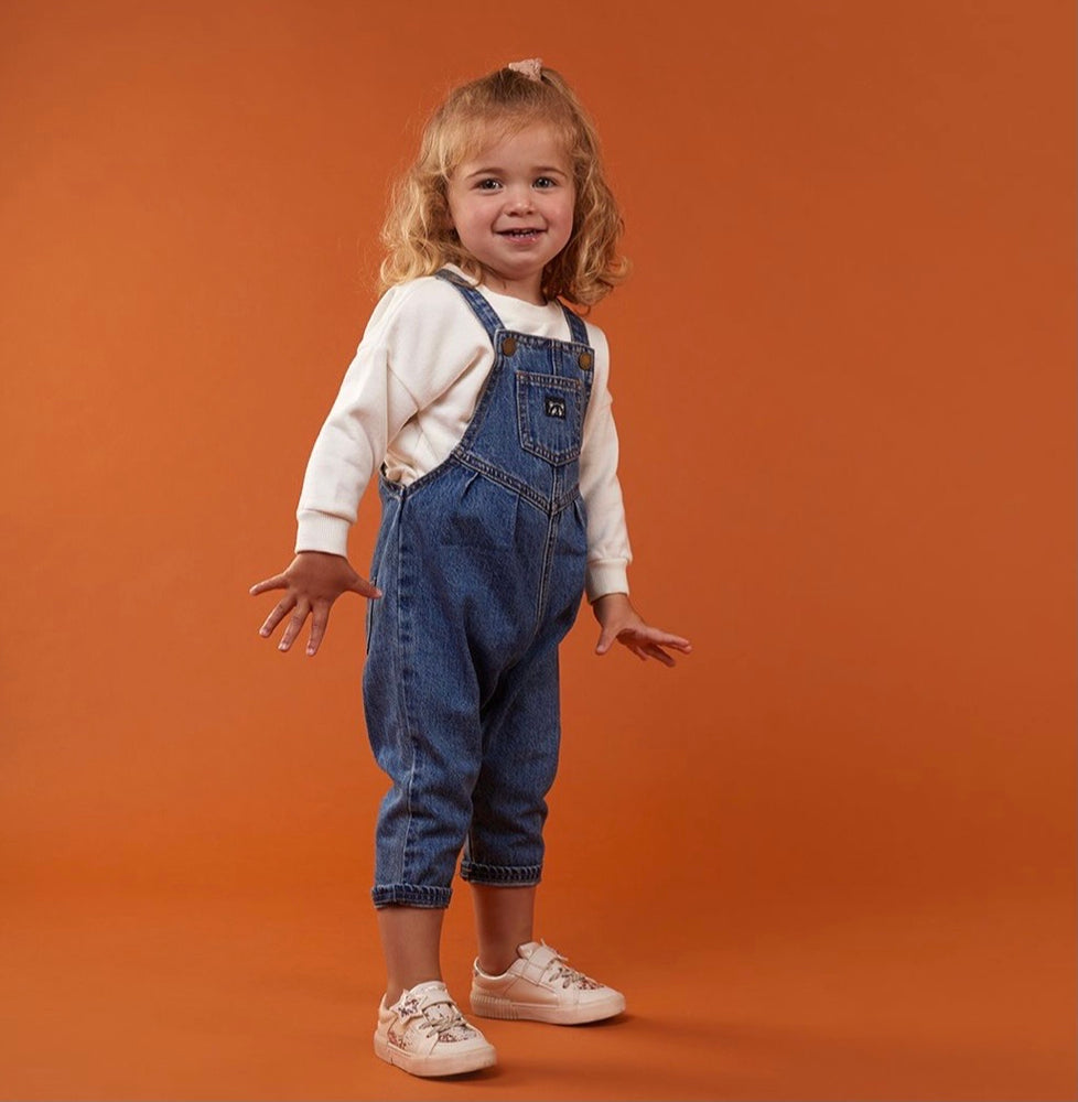 Animal Crackers Earth Overalls - Blue Denim