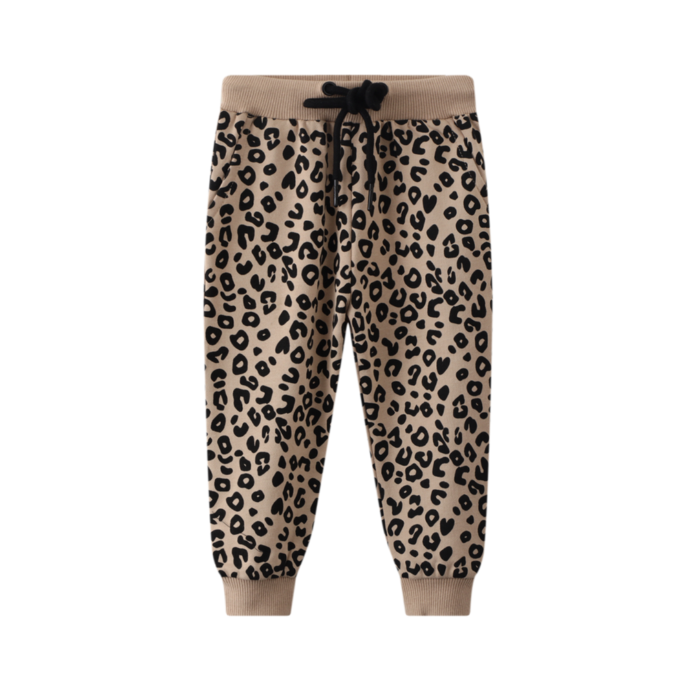 Cracked Soda Bella Leopard Track Pant