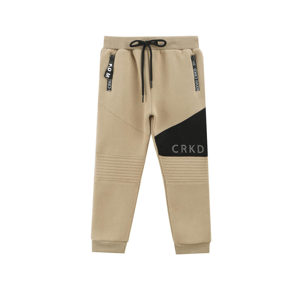Cracked Soda Nixon Detailed Trackpants - Tan