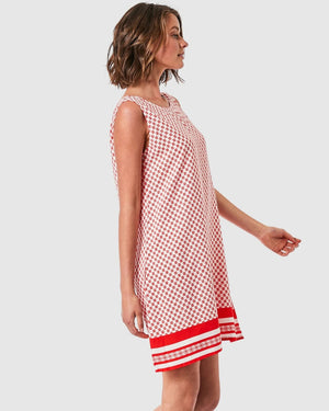 Elwood Josie Dress - Geo Border Print