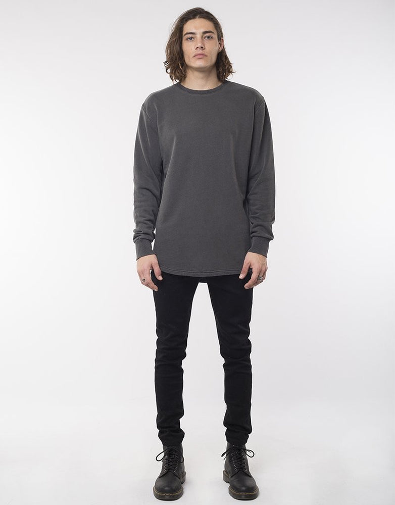 Silent Theory Curved Hem Crew - Charcoal
