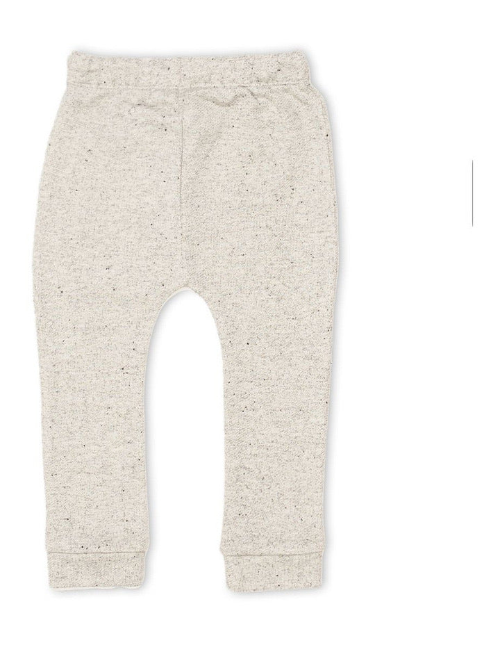 Animal Crackers Text Pant - Grey Marle