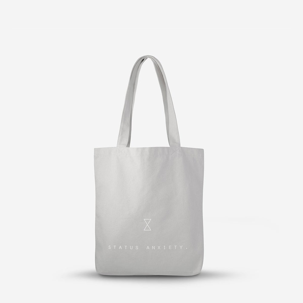 Status Anxiety First Glance Tote- Light Grey