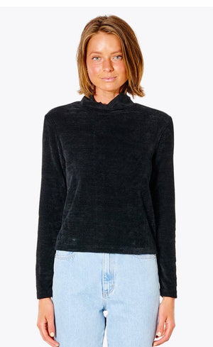 Rusty All Yours Long Sleeve Top - Black