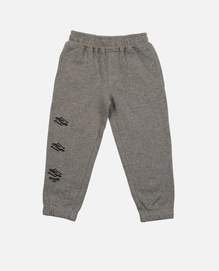 Rip Curl Check Diamond Track Pant Boy - Grey Marle