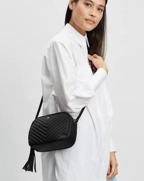 Peta + Jain Gracie Bag - Black quilted