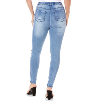 Cafè Lattè Stretched jeggings - Washed Light Denim