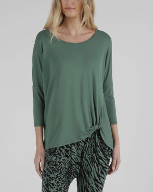 Betty Basic Atlanta 3/4 Sleeve Tee - Sage