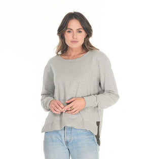 CLÈ Addyson Sweater - Marle Grey
