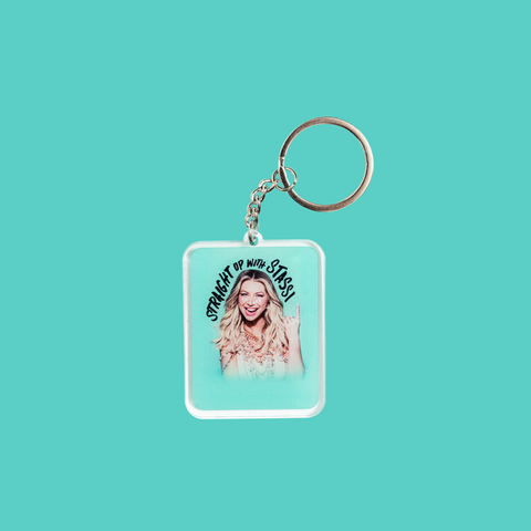 Straight Up With Stassi Keychain