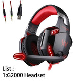 Gaming Headphones Gamer Earphone Stereo Deep Bass Wired Headset with Mic LED Light for PC PS4 X-BOX