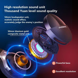 Head-Mounted Wireless Bluetooth Headphones with Mic Intelligent Noise Reduction Hifi Music Game Headset