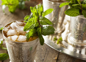 Mint is used in traditional Chinese herbs, as well as a garnish for Moscow Mules and other cocktails as shown here