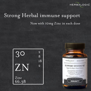 Zinc is included in Support System VZ to boost the immune system