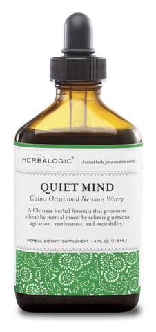 Quiet Mind Herb Drops by Herbalogic: Natural Remedy Supports Calming of Racing Thoughts, Hyperactivity, and Restlessness